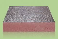 Extruded sheet metal duct board